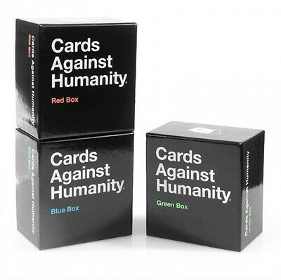 NEW Cards Against Humanity Red Blue Green Box Expansion Pack Sets 300 Cards Each