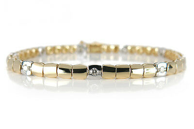 Armband Brillanten Wesselton/vs 750 Gelbgold Weissgold [BRORS 14318]
