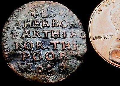 S552: 1669 Farthing - SHERBORNE TOWN.  Dorset 166c - old collection piece