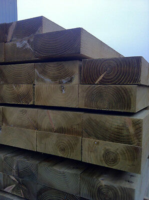 Eco friendly tanalith e (green) treated pine sleepers 2.4m x 200mm x 100mm