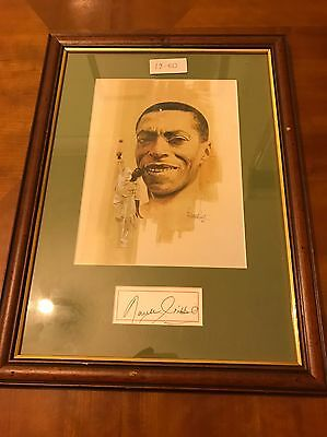 Cricket Memorabilia Signed Print Of Guyanese Bowler Lancelot Richard Gibbs