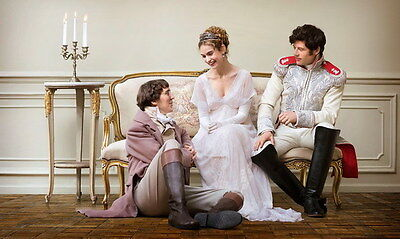 "008 War and Peace - Lily James Story Love History War TV Show 23""x14"" Poster"