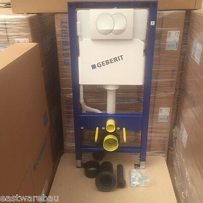 Original Geberit DUOFIX concealed cistern with Wall Corner kit with Activation