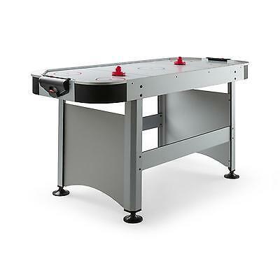"""New Air Hockey Table 7 """" Large Play Surface Electric Game Gliding Silver Indoor"""