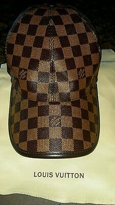 NEW Louis Vuitton Classic Brown Leather Baseball Hat, Unisex
