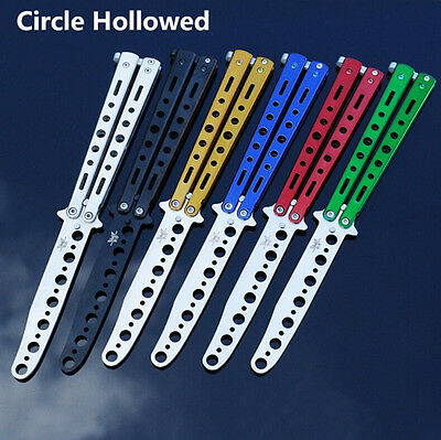 Practice Trainer Training Stainless Steel Butterfly Balisong Comb Tool LOT