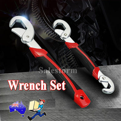 2PCS Adjustable Wrench Spanner Multi-function Set Universal Quick Snap and Grip