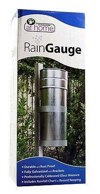 Taskmaster METAL RAIN GAUGE 340x130mm Durable & Rust-Proof, Measures Rain Fall
