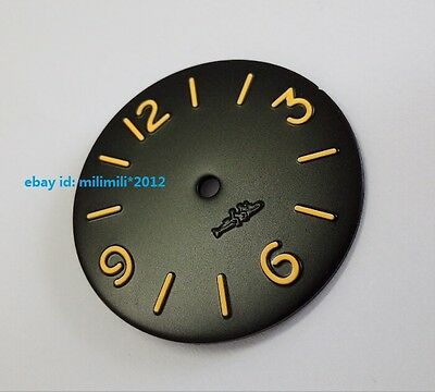 34.5MM watch dial Orange number without luminescent Suitable for ETA6497