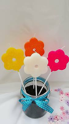 Large Flower Birthday Candles Cake Spring Decorations Gift