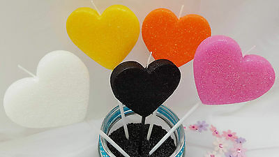 Large Heart Birthday Candles Cake Spring Decorations Gift
