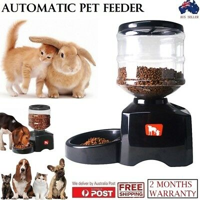 NEW 5.5L Big Auto Program Pet Feeder Food Cat Dog Bowl Dispenser Digital Display