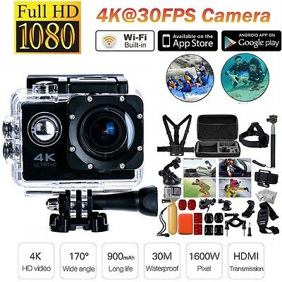 """F60 4K 1080P 16MP 2.0""""LCD Extreme Sports Camera Action Camera+30 in1 Accessories"""
