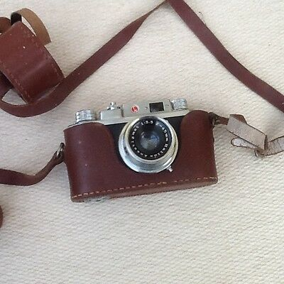 Vintage Halina 35X Camera and Case for Spares and Repair