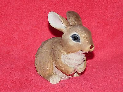EASTER BUNNY RABBIT Sitting Figurine Realistic Brown Coloring  Resin