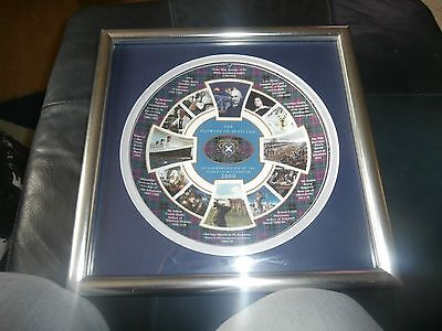 Flowers Of Scotland Millennium  Dish  Plate 2 In Presention Display Case Look