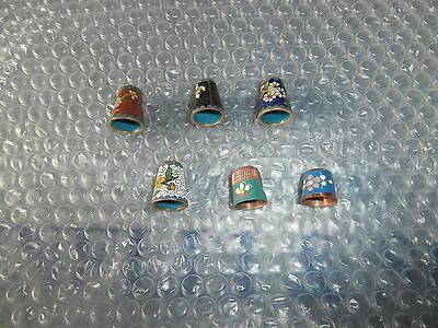 Thimbles   Mixed Lot  Metal     Set Of  6     As Shown In Picture   No Paperwork