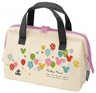Disney Mickey Mouse Balloon Cooler Bag Lunch Bag M size from Japan New