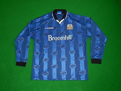 Glenavon Vintage Northern Ireland Irish League Football Long Sleeve Shirt Men Xl