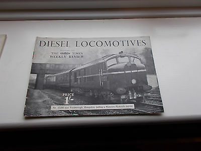 Booklet Diesel Locomotives C1950's Photos from the Times Weekly Review