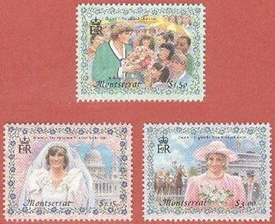 Princess Diana Lovely 1998 Set of Montserrat Stamps SG 1109 to 1111 Mint