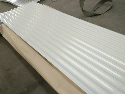 EXTERIOR WALL CLADDING Steel Sheets 950x6000 in White/Gray Colour