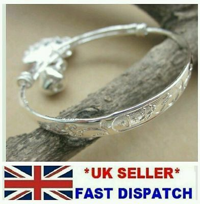 boy girl baby SILVER bangle anklet ADJUSTABLE 0-6 AGE birthday christening gift