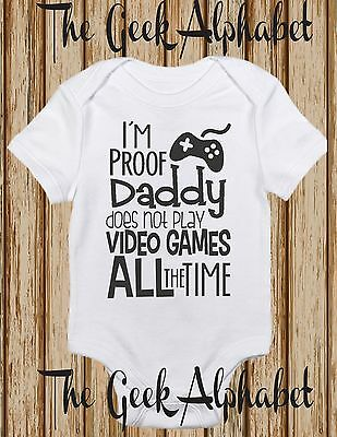 I'm Proof Daddy Doesn't Game All The time-Gamer Funny Clothes -Gift-Tops-Unisex
