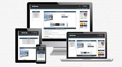 Responsive Auktionsvorlage Mobile Geräte Optimiert Template 2017 Ebay - Blue -