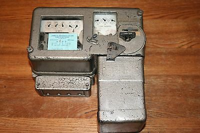 Vintage coin operated electricity meter