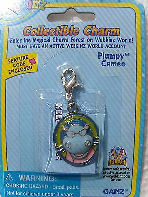 WEBKINZ Plumpy Cameo CHARM  New in Package w/ Code
