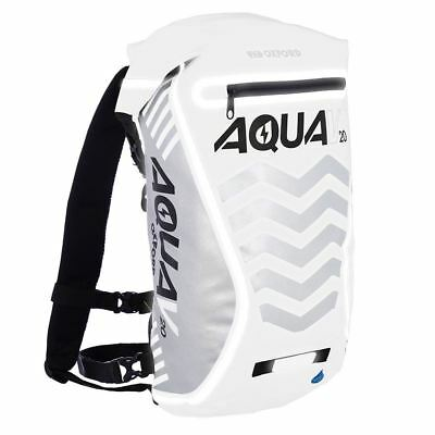 Oxford V20 Waterproof Motorcycle Scooter Backpack Rucksack White 20L Hi Vis