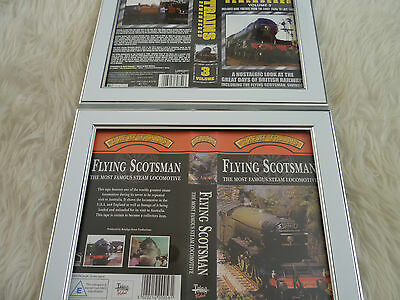 Flying scotsman steam & trains remembered vol 3 Bundle Cover Vhs sleeves Framed