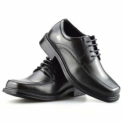 Mens New Wide Fitting Foam Cushioned Smart Casual Lace Up Gibson Work Shoes Size