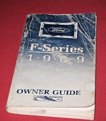 Original 1989 FORD F-150 250 350 Series Pick-up Truck Owners Manual Guide Book
