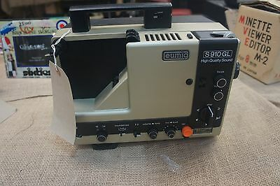 Eumig S 910 High Quality Sound Super 8 Projector*Vintage*Projector Screen*
