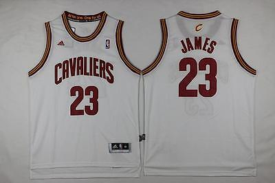 New Cleveland Cavaliers #23 LeBron James White Basketball Jersey S - 2XL
