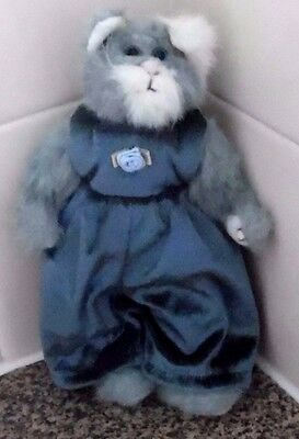 Whiskers The Cat 9 Inch Soft Toy Ty Beanie Baby Attic Collection 1993