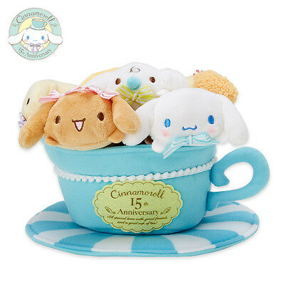 Sabrio Cinnamoroll 15th anniversary Plush Doll Set Friends Special From Japan