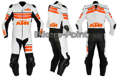 NEW KTM Biker Motorcycle Leather Racing Suit Motorbike Leather Jacket Trouser