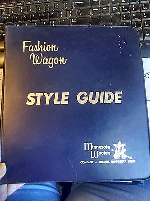 Vintage 1968 Minnesota Woolen Fashion Wagon Style Guide Fabric Swatch Catalog