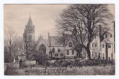 P3300 Original old postcard of Pantasaph Monastery and Church, Flintshire