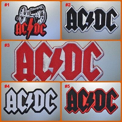 AC DC Heavy Metal Music Rock Band Embroidered Logo Applique Iron On Patch Sew