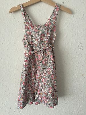 Vintage Girls Baby French Summer Tunic Floral Pink Pinafore Dress 12 M