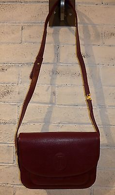CARTIER borsa tracolla vintage pelle bordeaux da donna woman bag