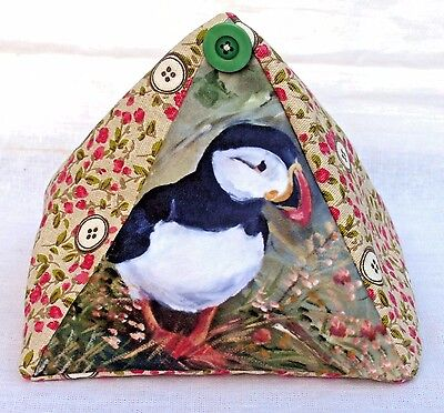 Puffin Seabird New Fabric Cottage Design Doorstop Sandra Coen Artist Print