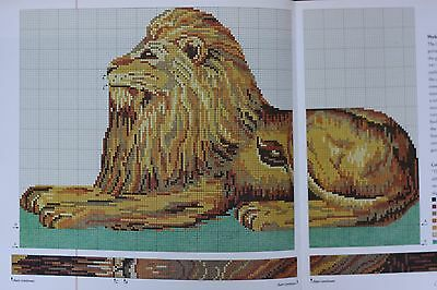 Ehrman Designer Candace Bahouth SEATED LION CUSHION Tapestry Needlepoint Chart