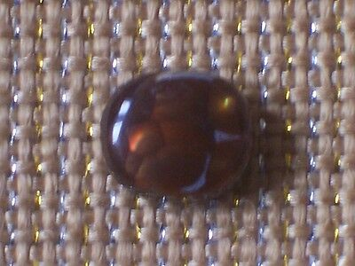 NATURAL FIRE AGATE OVAL CABOCHON w/ BEVELED EDGE -- 9½ mm x 11 mm