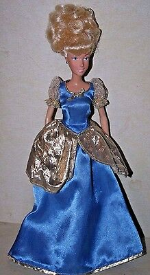 Disney's Cinderella  Princess Doll With Blue & Gold Gown