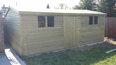 20 x 12 19mm Tanalised pressure treated T&G apex shed workshop